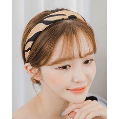 Miss21 Korea - Zebra Hair Band & Scrunchy Tie Set