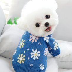 Bixin - Flower Knit Pet Top