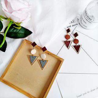 Isle of Green - Triangle Drop Earrings