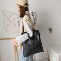 Mulgam(ムルガム) - Faux Leather Tote Bag