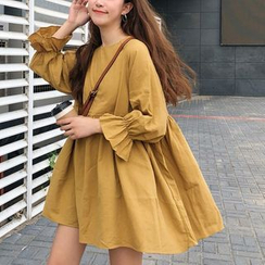 ZENME - Long-Sleeve Babydoll Dress
