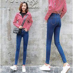 Everose - 高腰窄身牛仔裤