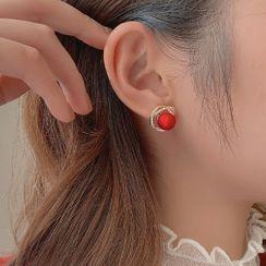 True Glam - 水钻圆球耳钉