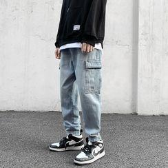 Deepwood - Washed Harem Cargo Jeans