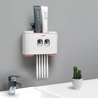 Livesmart - Adhesive Toothbrush Wall Organizer