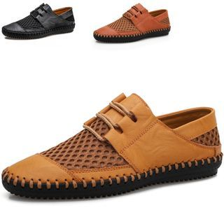 WeWolf - Lace Up Stitched Casual Shoes