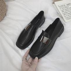 时尚麦乐 - 粗跟乐福鞋