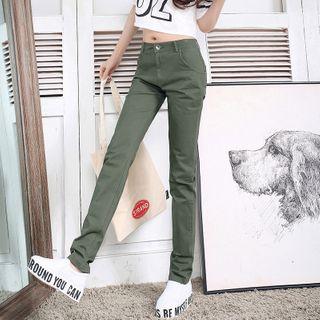 COOLIN - High-Waist Straight-Fit Pants