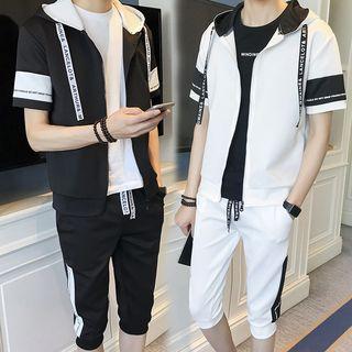 Wescosso  - 套裝: 連帽短袖上衣 + 運動短褲