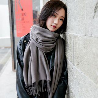 UACY - 純色流蘇圍巾