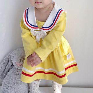 MOM Kiss - 童裝水手領長袖連衣裙