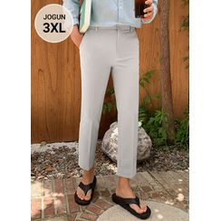 JOGUNSHOP - Band-Waist Straight-Cut Dress Pants