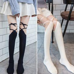 MITU - Tie Knee-High Socks