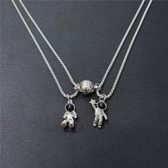 Malnia Home - Couple Matching Magnetic Pendant Necklace