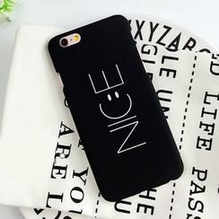 Homap - Smiley Face Lettering iPhone 5 /SE /6 /6S /6 plus /6S plus Case