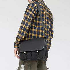 BagBuzz - Faux Leather Messenger Bag