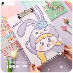 默默爱 - 卡通印花 A4 文件夹板