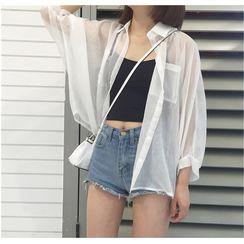 Sisyphi - 长袖薄纱衬衫
