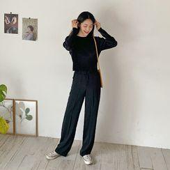 FROMBEGINNING - Straight-Cut Dress Pants
