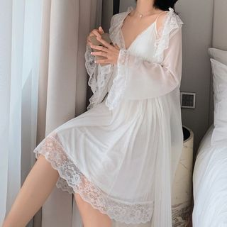 Almilo - Set: Strappy Sleep Dress + Robe