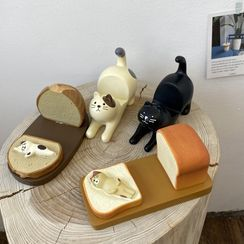 Intimo - Resin Cat / Toast Phone Stand