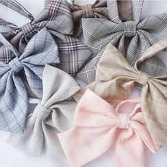 Candy House - Plaid Ribbon Bow Tie