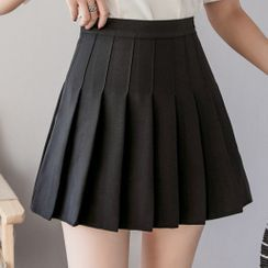 NUBE - Pleated Mini Skirt with Inset Shorts