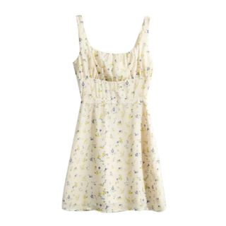 AMeow - Floral Strappy A-Line Dress