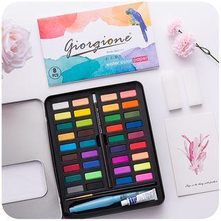 Momoi - Set: Watercolor Pans + Brush Pens