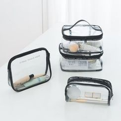 School Time - Set of 4: Transparent PVC Travel Zip Pouch (various designs)