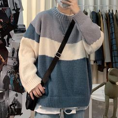 Wescosso(ウェスコッソ)  - Striped Knit Top
