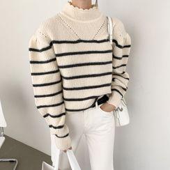 Merlene - 小高领条纹毛衣