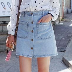 HYAKU - Denim Mini Skirt