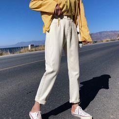 everbelleza - 纯色直腿牛仔裤