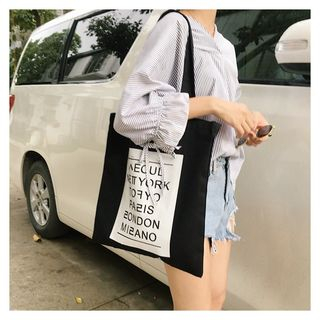 Eastin - Printed Canvas Tote