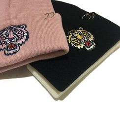 Heloi(ヘロイ) - Embroidered Tiger Beanie