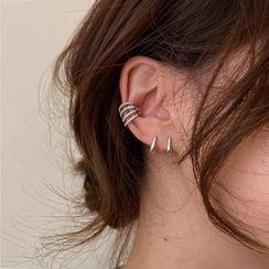 True Glam - Rhinestone Layered Ear Cuff