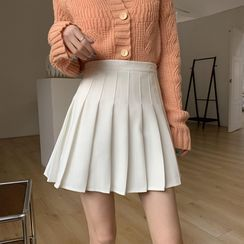 Moon City(ムーンシティ) - Mini Pleated Skirt