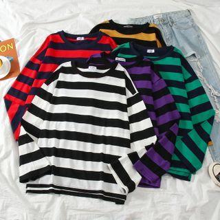 Annyoung - 条纹长袖T裇