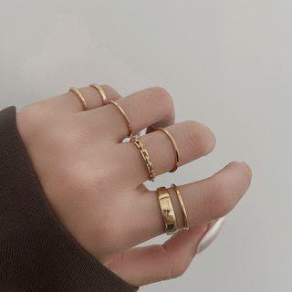 Taimi - Set of 7: Alloy Ring (assorted designs)