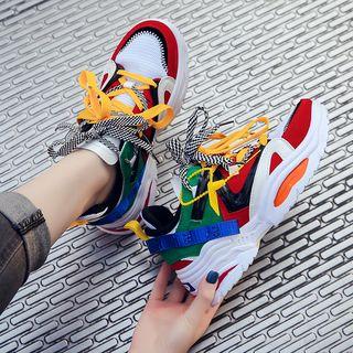 Shanhoo - Multicolor Chunky Platform Sneakers