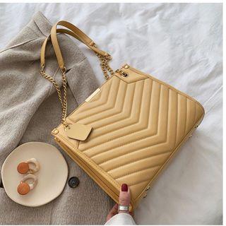 BAGSHOW - 绗缝仿皮手提包
