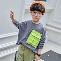 Cherry Pie - Kids Pocket Paneled Sweatshirt