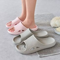 Furana - Couple Matching Cutout Shower Slide Slippers