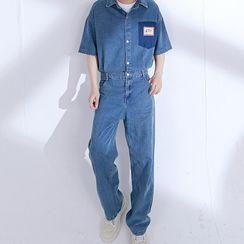 CHIC ERRO - 短袖工装连衣裤