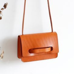 Mango Fish - Genuine Leather Flap Crossbody Bag