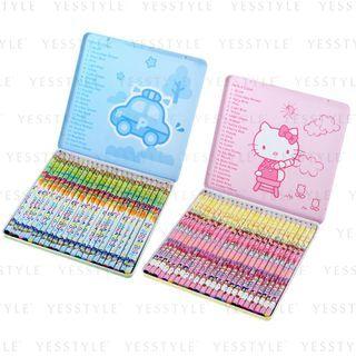 Sanrio - 24 色木颜色笔 - 3 款