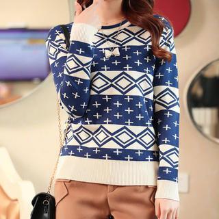 anzoveve - Pattern Knit Top
