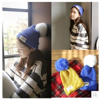 FROME - Ball-Accent Beanie