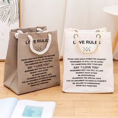 Fun House - 字母帆布購物袋